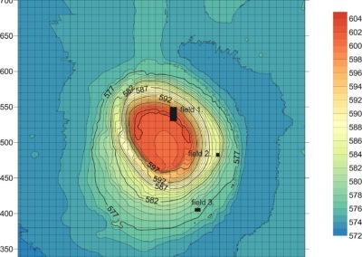 Grd-i Tle ásatás, izometrikus térkép